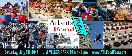 Atlanta Food Festival with caterers, restaurants, food trucks serving up sample dishes. Taste Ticket