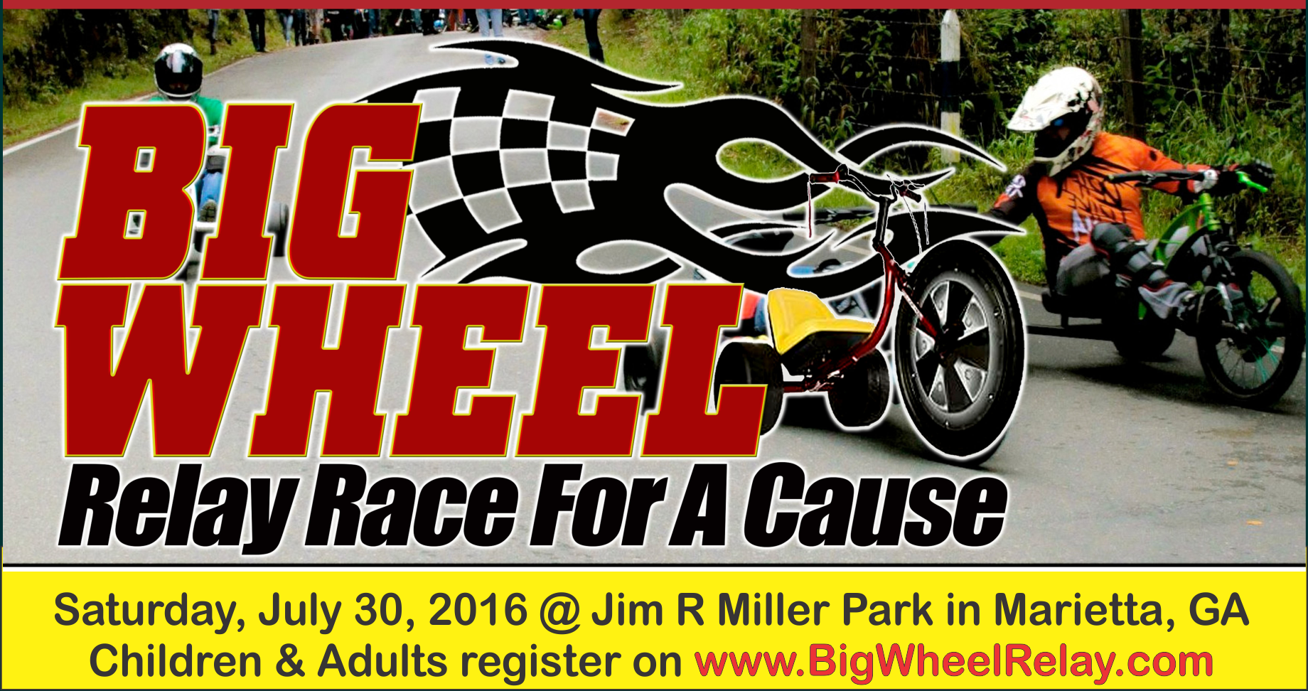 Big Wheel Relay Race Website Flyer